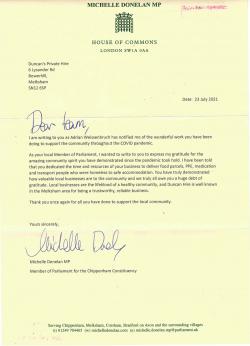 Letter from Chippenham MP Michelle Donelan