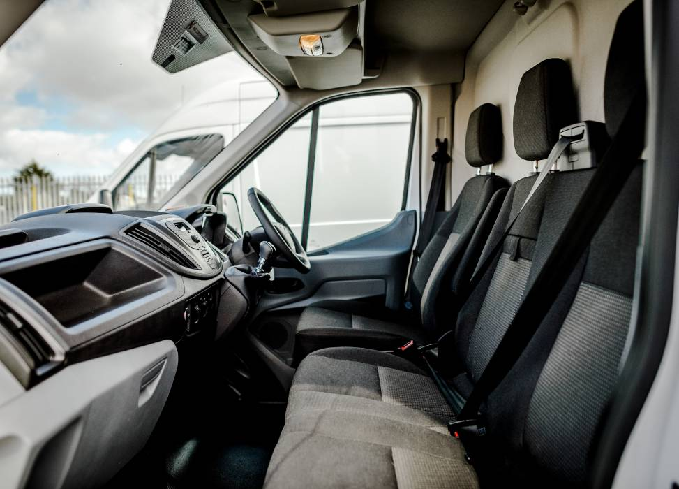 Duncan self drive van hire front seats