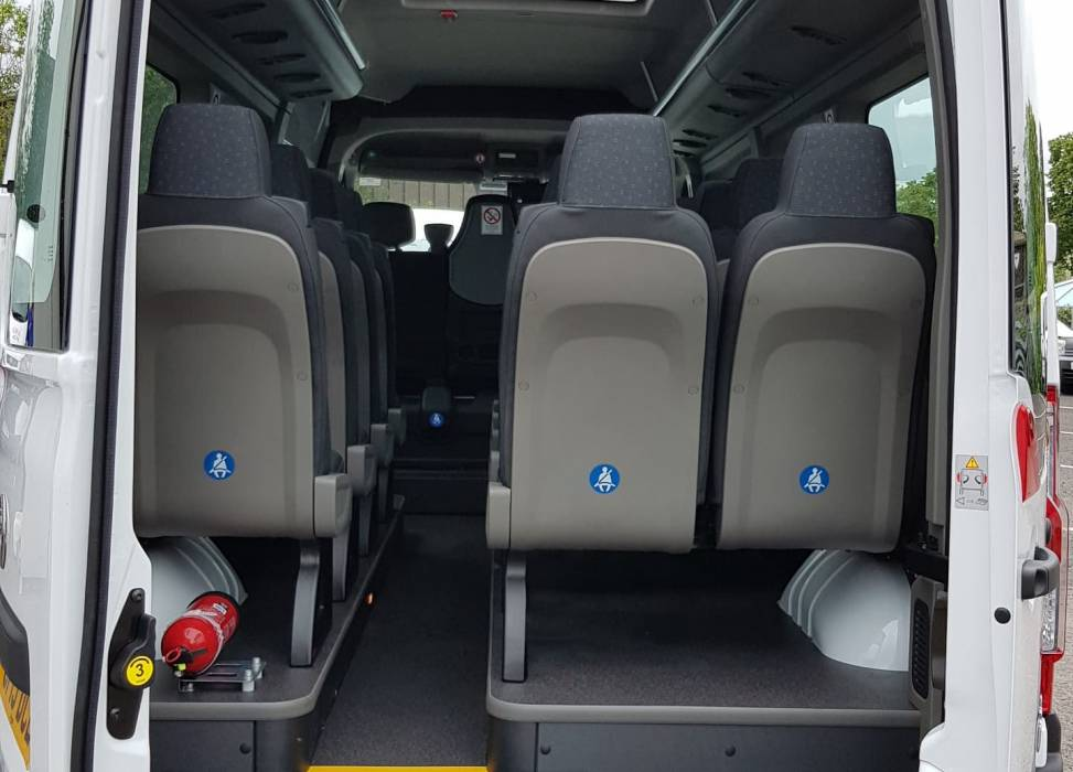 Duncan self drive minibus hire rear access