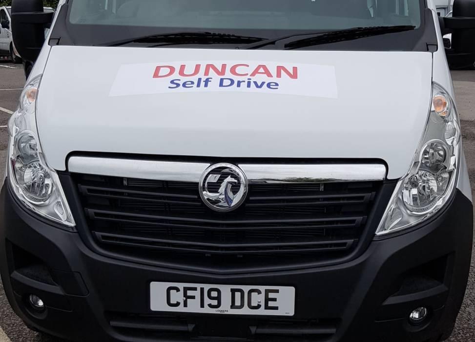 Vauxhall minibus hire 17 seats duncan self drive