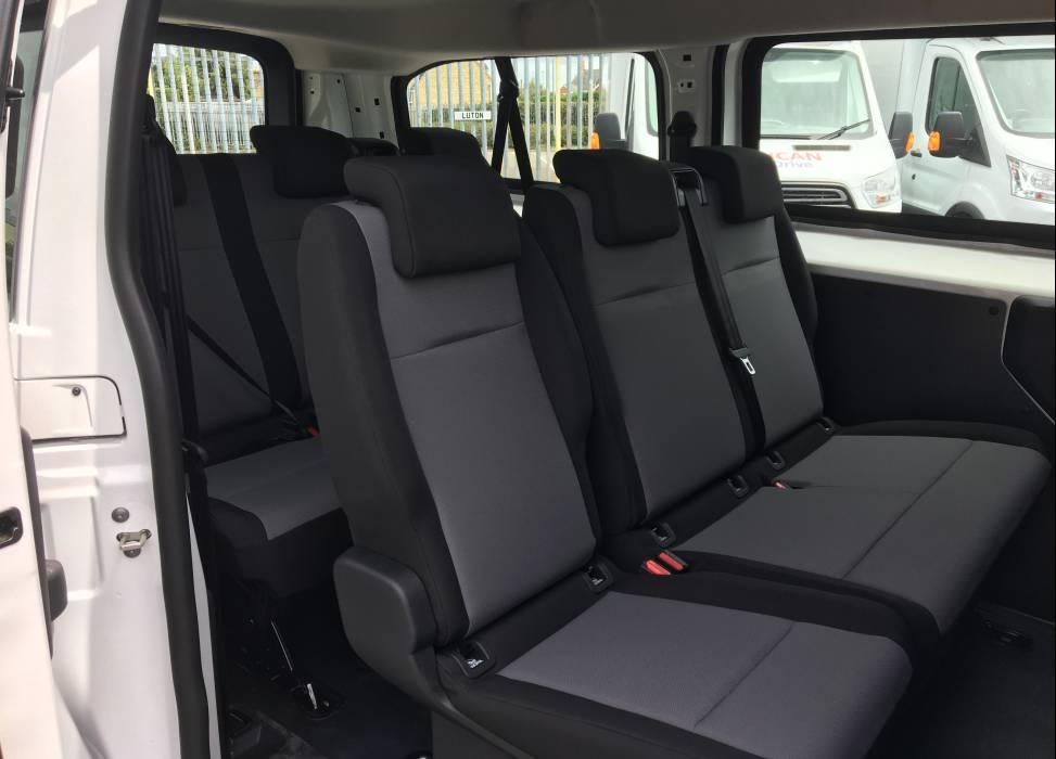 Vivaro minibus rear seats
