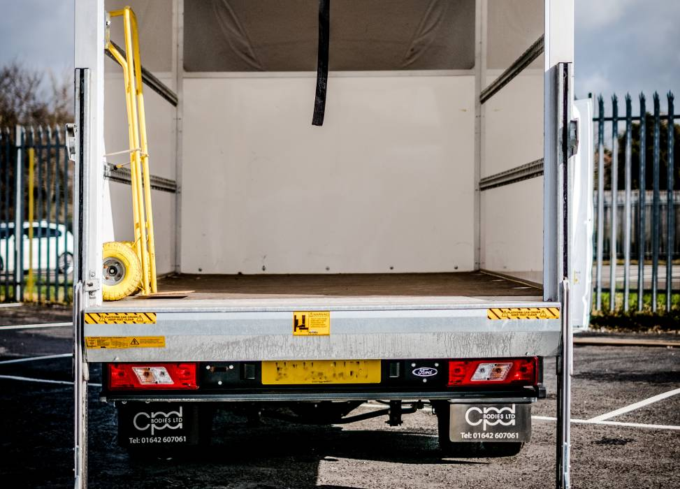 Ford luton storage tial lift duncan self drive