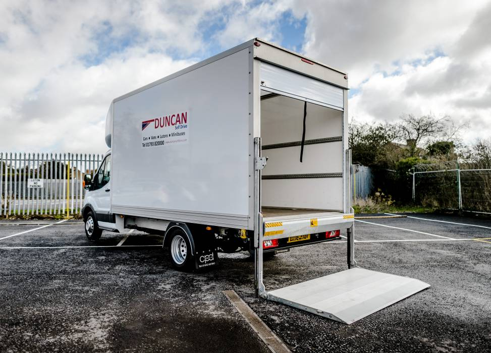 Ford luton tail lift duncan self drive van hire