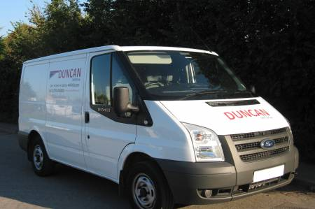 A selection of Ford Transits available for sale.