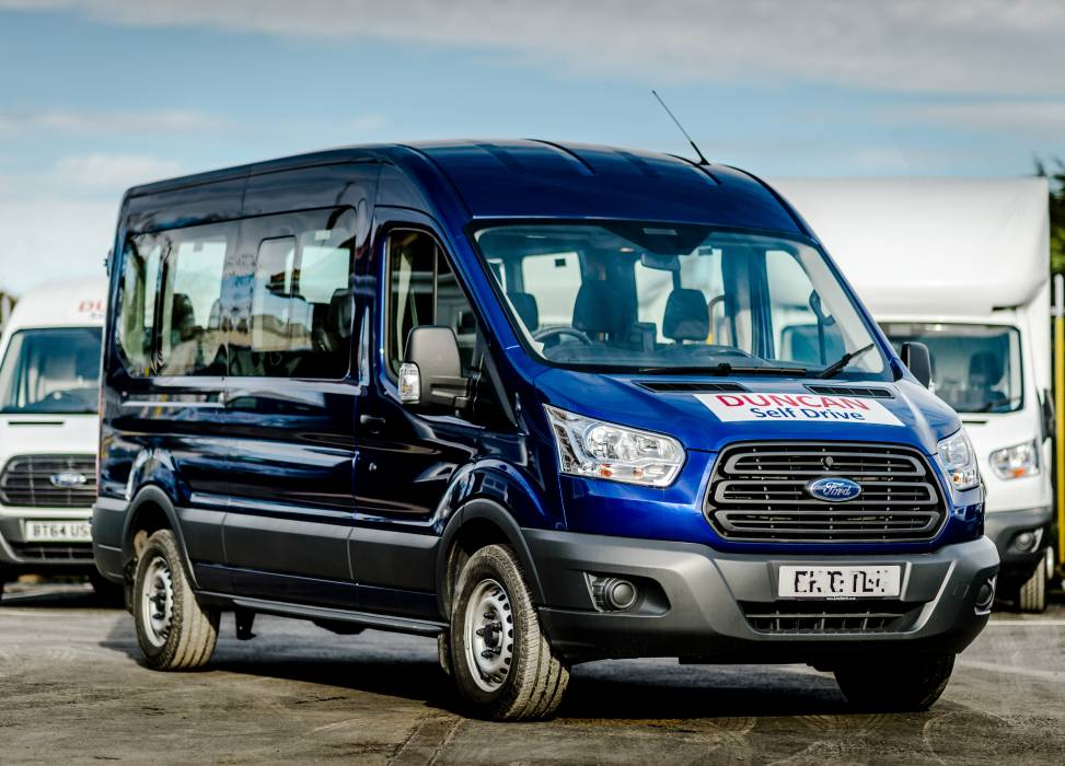 Minibus hire with easy access