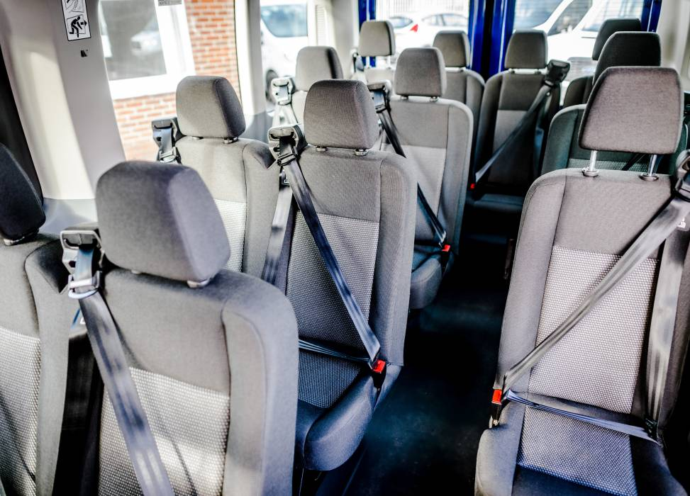 15 seats for transporting he whole team