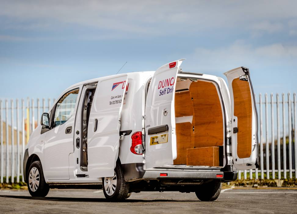 Rent a small van for light loads
